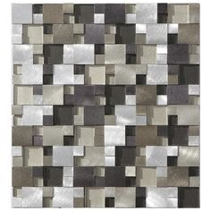 Aluminum Glass Split Face Tile Champagne Mix Mini | Mineral Tiles
