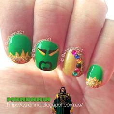 El villano Mandarín y unas uñas inspiradas en él - Reto villanos y super héroes