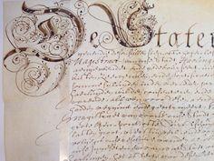 Charter (oorkonde op perkament) uit de 17de eeuw in het Gemeentearchief Harlingen.
