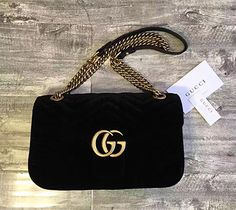 9637ca663 7 Best GG MARMONT VELVET SHOULDER BAG BLACK 2017 GUCCI BAGS images ...