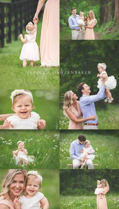 Outdoor baby and family photography in May in Northern Virginia by Rebecca Danzenbaker. One Year Pictures, Summer Family Pictures, Family Photos With Baby, Outdoor Family Photos, Family Picture Poses, Toddler Photos, Baby Girl Photos, Family Posing, Family Portraits