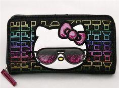 Hello Kitty 90's Kitty Neon Wallet -  $30.00