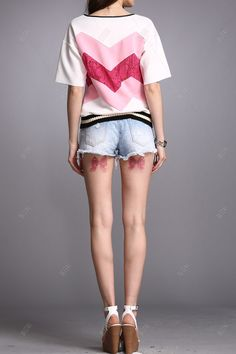 Lace Splicing Tee