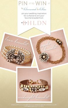 Pin it to Win it Giveaway – Wedding Jewelry from BHLDN on Borrowed & Bleu