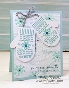 Smitten Mittens and Snowflake embossing folder card | Patty's Stamping Spot | Bloglovin'