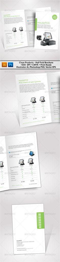 Clean Products Half Fold Brochure tyxgb76aj\ - half fold brochure template