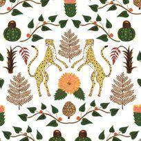 Brewster Home Fashions Scandinavian Designers II Rabarber Floral x Wallpaper Roll Wallpaper Online, Home Wallpaper, Wallpaper Roll, Cheetah Wallpaper, Colorful Wallpaper, Cheetahs, Botanical Wallpaper, All Themes, Textiles