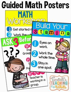 Launching Guided Math {A How To Guide} with the Free posters
