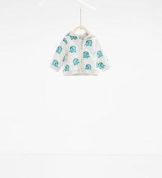 Image 1 of Little elephants sweatshirt from Zara