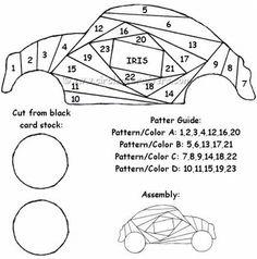 free Iris folding cross patterns - Yahoo Image Search Results