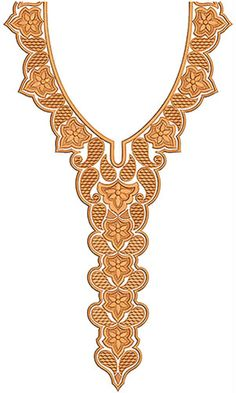 Motif Pattern Neck Embroidery Design