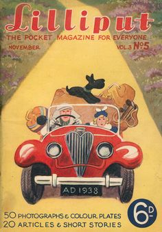 Lilliput Magazine, January 1938, Volume 3, Number 5, Cover art by Walter Trier.
