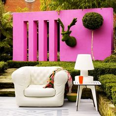 Architectural elements in can be colorful and artistic.  Outdoor living does not need to be boring.
