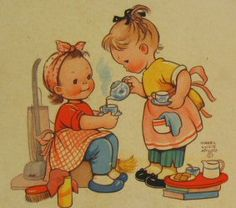 Time for Tea -Mabel Lucie Atwell, I loved Mabel Lucien Atwell books and illustrations.