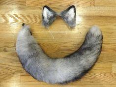 fox tail and ears diy - Google Search