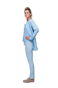 LIchtblauwe blazer