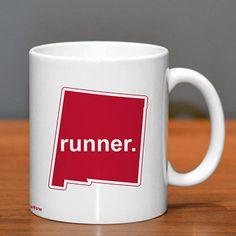 New Mexico Runner Ceramic Mug - Show off your pride for New Mexico with this great New Mexico Runner Ceramic Coffee Mug.