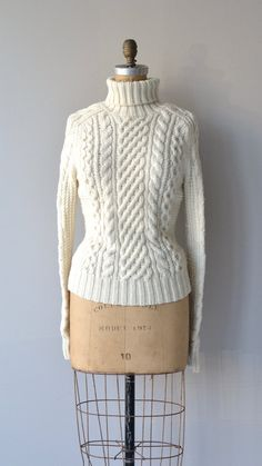 Nordegg sweater vintage cable knit sweater cream by DearGolden