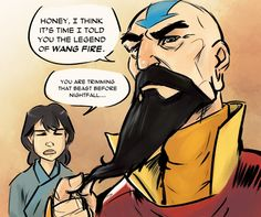 This is probably the first time that I have appreciated Tenzin as being Sokka's nephew. WANG FIRE!  XD