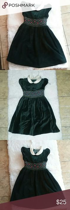 Dress by  charter club French stitching forest green velvet with poka dots Charter Club Dresses Formal