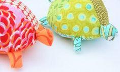 Stuffed Fabric Turtle Softies Pattern ~ Free