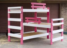 Custom Made Triple Bunk Bed need this for the boys room In manly pine or something tho. They said no thanks to the pink.