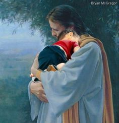This is how I imagine my two sweet angels with Jesus. 💕 Until we meet again my sweet babies. God and Jesus Christ Pictures Of Christ, Religious Pictures, Religious Art, Christian Images, Christian Art, Image Jesus, Religion, Jesus Art, Prophetic Art