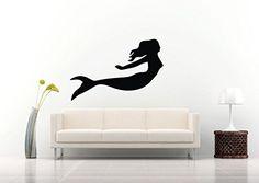 Wall Vinyl Sticker Decals Mural Room Design Pattern Mermaid Fish Octopus Ocean Sea bo656