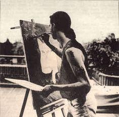 Dave Gahan painting
