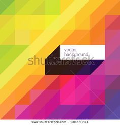 Colorful abstract background with diagonal shapes and space for text. Vector by pashabo, via Shutterstock