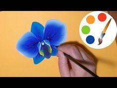 One stroke, Paint pansies, Como Dibujar Flores, Анютины глазки двойным мазком, irishkalia - YouTube