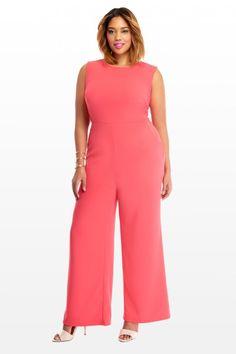 Plus Size Zenia Zip Jumpsuit | Fashion To Figure #PlusSizeFashion