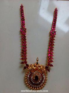Burma Ruby rose cut diamond haram from rkr jewels