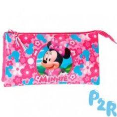 Estojo Triplo Minnie Disney Pink