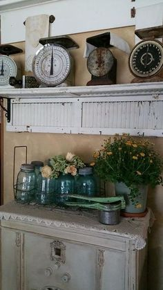 This is actually a mobile home makeover, but I love the decorating design.  It would all be perfect in a barn home.