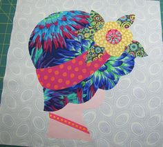 My applique block for my friend.