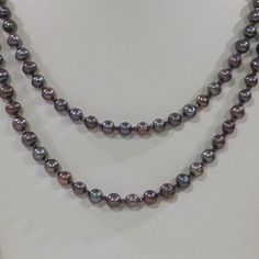 Peacock Freshwater Pearl Double Strand Necklace by tbyrddesigns