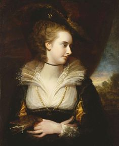 Elizabeth Milbanke Lamb, Viscountess Melbourne (c.1784). Richard Cosway (English, 1742-1821).Oil on panel. The Royal Collection.