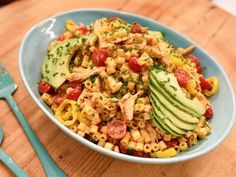 Get Honey-Chipotle Chicken Pasta Salad Recipe from Food Network