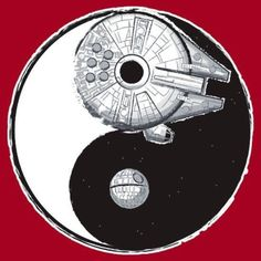 This had to be posted, star wars connects. Yin..dark side..Yang, Jedi. Intertwining and bringing one to each other, never ending. (Really)