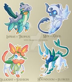 [Adopt] Pokemon Fusions by request mix [closed] by Seoxys6 on DeviantArt