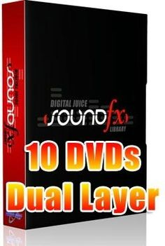 Digital Juice - Sound Fx - Efeitos Sonoros, 10 Dvds Dl 5 - R$ 99,90