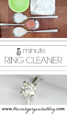Make your ring sparkle easily (and cheaply!) with this DIY ring cleaner. Only takes 5 minutes and uses ingredients you have in your house! SPARKLE!