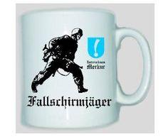 Tasse Fallschirmjäger V - Unternehmen Merkur / mehr Infos auf: www.Guntia-Militaria-Shop.de