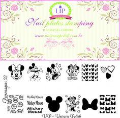 Placa Up Personagens 02 - Mickey e Minnie