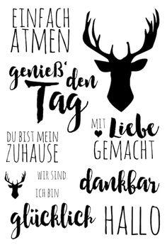 """Klartext Stempelset November """"einfach atmen"""" von www.danipeuss.de #dpNovemberkit16 #danipeuss #stempeln #klartext"""