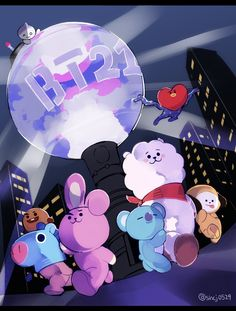 My super heros My super heros Bt 21, Bts Backgrounds, Bts Drawings, Line Friends, Bts Chibi, Bts Fans, Album Bts, I Love Bts, Bts Lockscreen