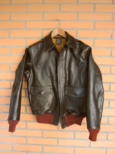 Schott Bros Distressed Leather A2 Flyer Jacket Made In