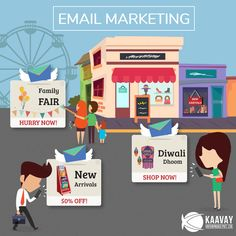 Click on our Creative to know more about our Email Marketing Solutions. #Email #Marketing #Digital #GoDigital #Kaavay