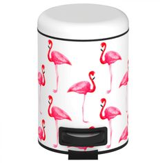 36 L Pedal Bin Big Double Boy WescoWesco - Wenko Cosmetics Pedal Bin Flamingo 3 Liter White / Pink Wenkowenko - Flamingo Bathroom, Flamingo Decor, Pink Flamingos, Flamingo Nursery, Flamingo Hotel, Metal Epoxy, Bathroom Bin, Bathrooms, Pink Bird